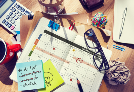 medium group of object: Calendar Planner Organization Management Remind Concept