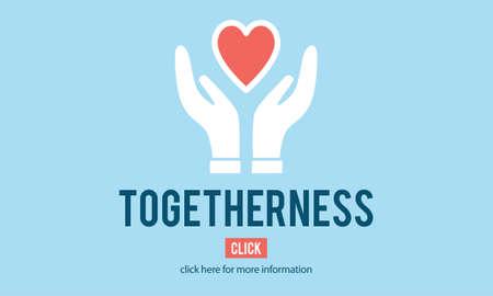 mingle: Togetherness Unity Design Icon Heart Concept