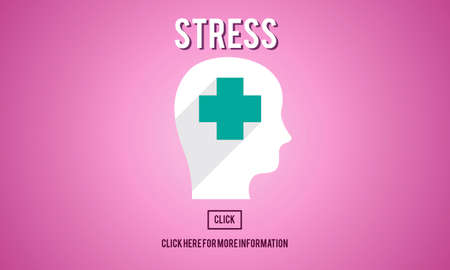 anxiety: Stress Depression Anxiety Expression Frustration Concept