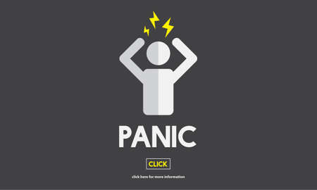 phobia: Panic Worried Stressed Afraid Fear Phobia Anxiety Concept