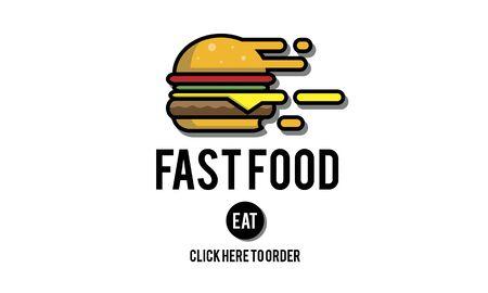 calories: Fastfood Burger Junk Meal Takeaway Calories Concept