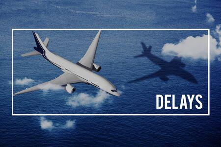 delays: Delays Flight Journey Atrplane Reschedule Concept