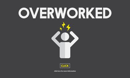exhaust: Overworked Depression Emotion Exhaust Problem Concept