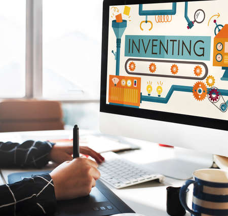 inventing: Inventing Innovation Create Creative Process Concept