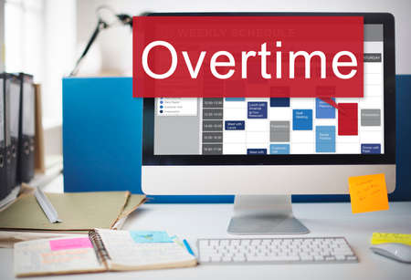 overtime: Overtime Hard Working Overload Concept