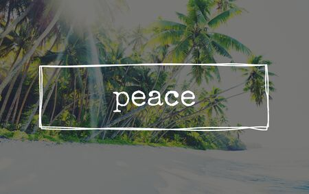 nonviolence: Peace Free freedom Calm Solitude Tranquility Concept Stock Photo