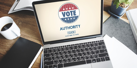 electronic voting: Authority Leader Ruler Politics Concept
