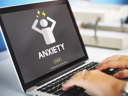 tension: Anxiety Angst Disorder Stress Tension Concept Stock Photo