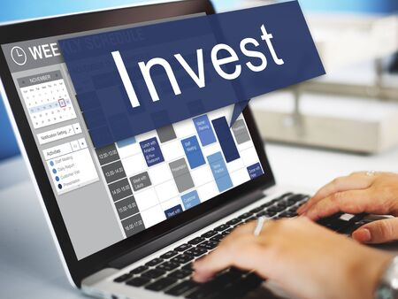 invest: Invest Assets Banking Economy Financial Profit Concept