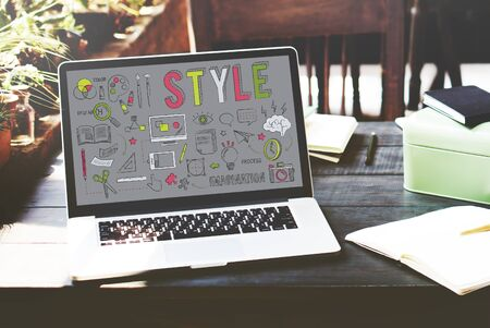 chic: Style Character Chic Fashionista Hipster Design Concept