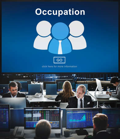 hectic: Occupation Job Work Career Profession Occupational Concept
