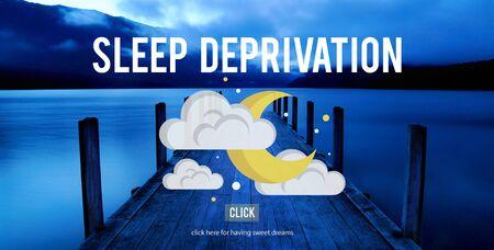 deprived: Sleep Deprivation Insomnia Problem Narcolepsy Concept Stock Photo