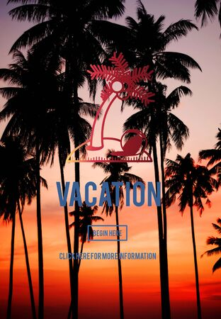 time travel: Vacation Holiday Relaxation Time Travel Concept