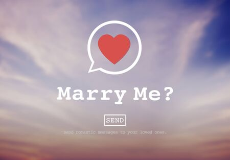 marry me: Marry Me Proposal Marriage Online Messaging Concept