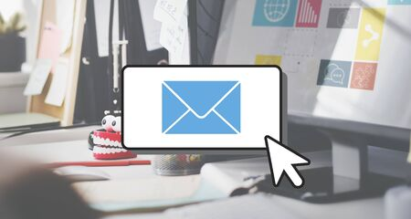 correspondence: E-mail Connection Communication Correspondence Cocnept Stock Photo
