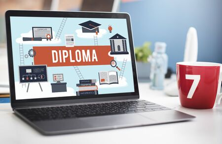 master degree: Diploma College Degree Certificate Intelligence Concept