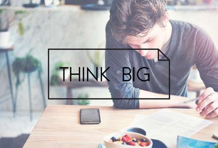 intention: Think Big Positive Optimism Idea Intention Concept