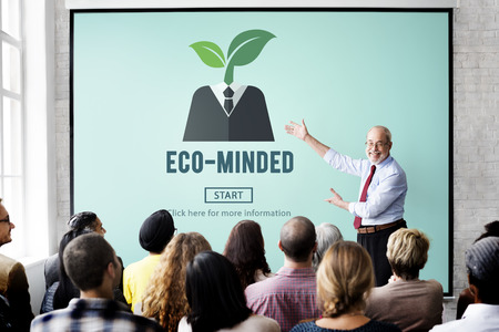 Eco-Minded Energy Environmental Sustainable Concept Stock fotó