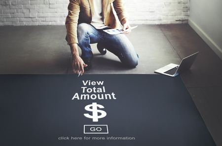 total: View Total Amount Accountant Balance Record Concept