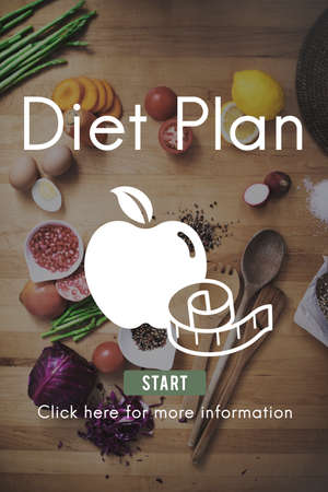 weight loss plan: DIet Plan Healthy Nutrition Eating Food Choice Concept