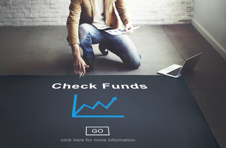 fondos negocios: Check Funds Budget Analysis Business Data Finance Concept