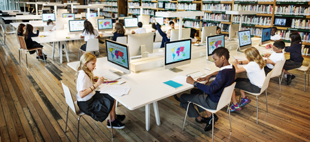 Education School Student Computer Network Technology Concept Stockfoto