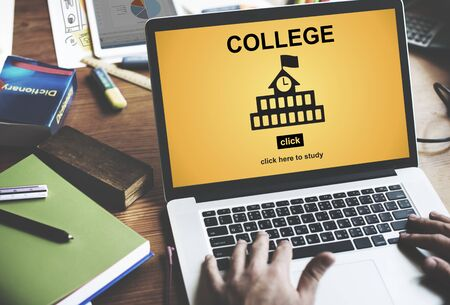 College Education Knowledge University Academic Concept Stock Photo