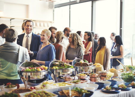 Diversity People Party Enjoyment Buffet Eating Concept Stok Fotoğraf - 55786906