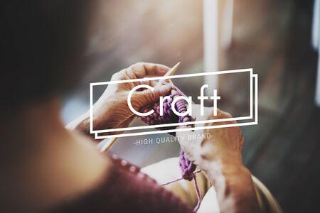 craftmanship: Craft Craftmanship Art Handcraft Handmade Skilled Talent Concept Stock Photo