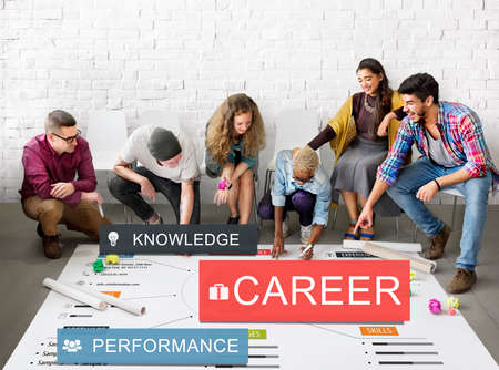 team planning: Career Performance Knowledge Word Concept