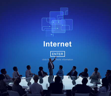 Presentation with internet concept