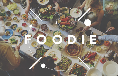 foodie: Foodie Nourishment Restaurant Eating Buffet Concept