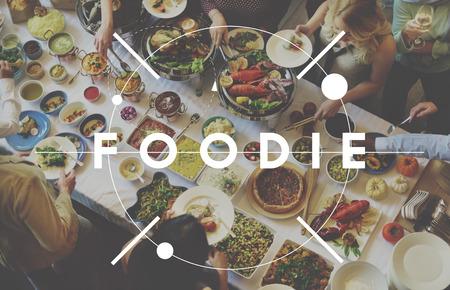 restaurant dining: Foodie Nourishment Restaurant Eating Buffet Concept