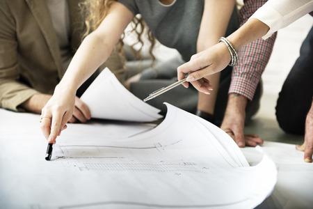 Architekt Designprojekttreffen Diskussion Konzept