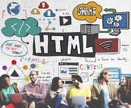 html: HTML Share Content Coding Network Concept