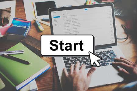 begin: Start Starter Begin Build Launch Motivate First Concept
