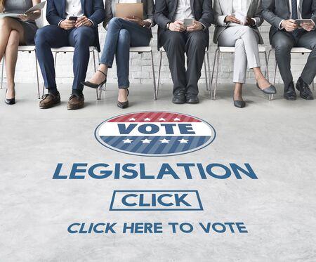 autoridad: Legislación Ley de Justicia Autoridad Concepto votar Foto de archivo