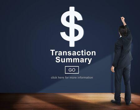 summary: Transaction Summary Corporate Accounting Concept Stock Photo