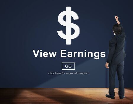 ganancias: View Earnings Money Accounting Financial Concept