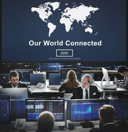 our: Our World Connected Social Networking Interconnection Concept