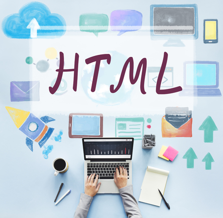 html: HTML Computer Language Internet Online Technology Concept