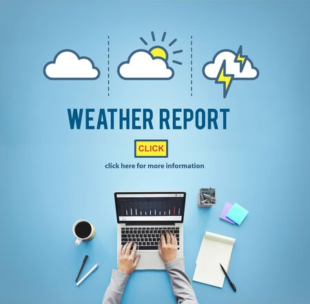 weather report: Weather Report Prediction Forecast News Information Concept