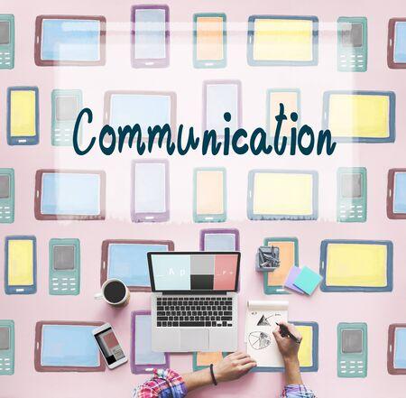 socialize: Communication Connection Socialize Media Chat Concept