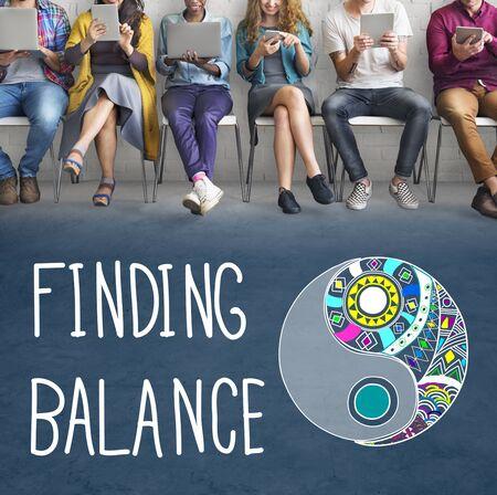 conclusion: Encontrar el equilibrio Yin-Yang Concepto Bienestar