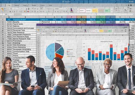 spreadsheet: Spreadsheet Document Financal Report Concept