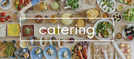 Catering Appetizer Delicious Meal Dish Event Concept Foto de archivo