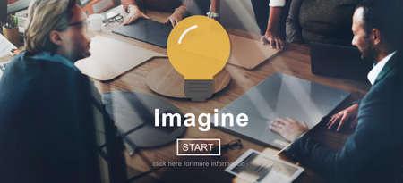 visualise: Imagine Ideas Creativity Thinking Vision Concept