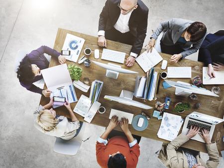 Mensen Vergadering Collectieve Werken Technology Startup Concept