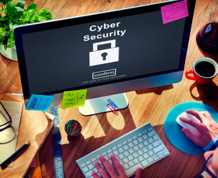firewall: Cyber Security Protection Firewall Interface Concept Stock Photo
