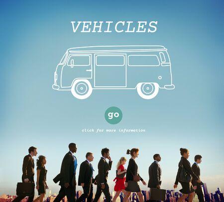 destination: Vehicles Traveling Adventure Journey Destination Van Concept